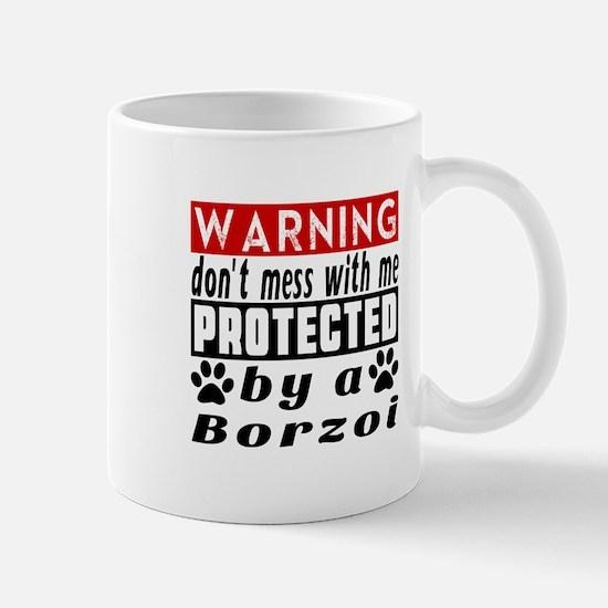 Protected By Borzoi Dog Mug