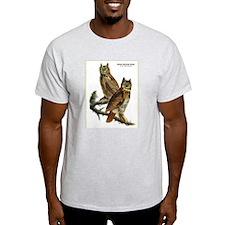 Audubon Great Horned Owls (Front) T-Shirt