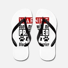 Protected By Black Russian Terrier Dog Flip Flops