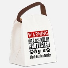 Protected By Black Russian Terrie Canvas Lunch Bag