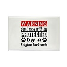 Protected By Belgian La Rectangle Magnet (10 pack)