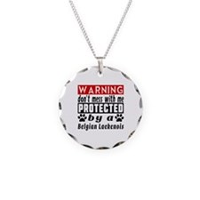 Protected By Belgian Laekeno Necklace Circle Charm