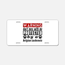Protected By Belgian Laeken Aluminum License Plate