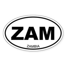 Zambia Oval Decal