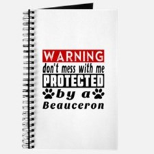 Protected By Beauceron Dog Journal