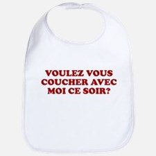 FRENCH HUMOR FUNNY FRENCE VOU Bib