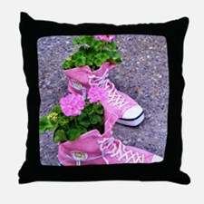 Cute Live love run Throw Pillow
