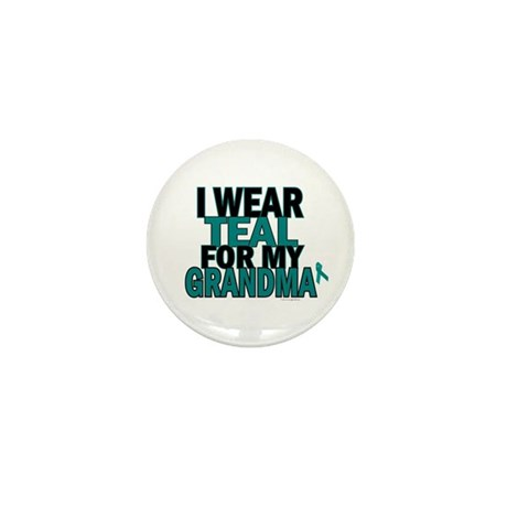 I Wear Teal For My Grandma 5 Mini Button (10 pack)