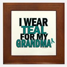 I Wear Teal For My Grandma 5 Framed Tile
