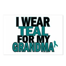 I Wear Teal For My Grandma 5 Postcards (Package of