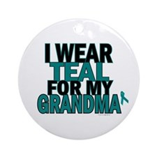 I Wear Teal For My Grandma 5 Ornament (Round)