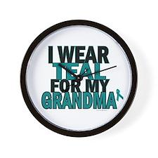 I Wear Teal For My Grandma 5 Wall Clock