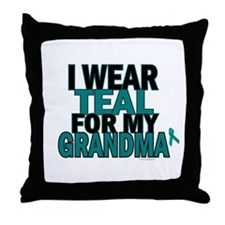 I Wear Teal For My Grandma 5 Throw Pillow
