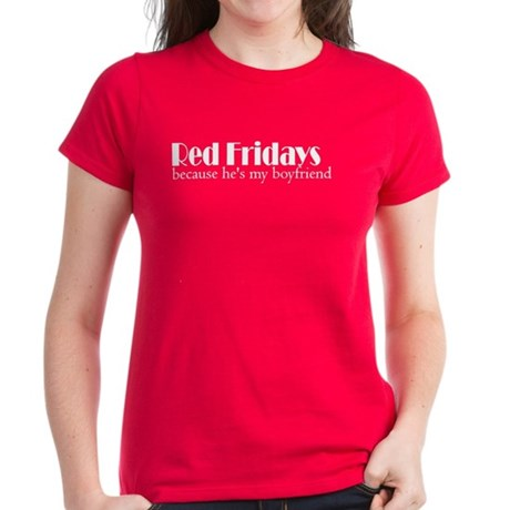 because hes my boyfriend Women's Dark T-Shirt