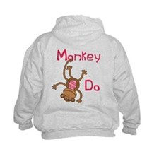 Monkey Do pink Hoody