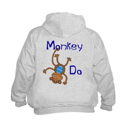 Monkey Do blue Kids Hoodie