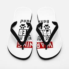 Protected By Basset Hound Dog Flip Flops