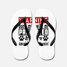 Protected By American Water Spaniel Dog Flip Flops