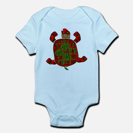 Red African Turtle Infant Bodysuit