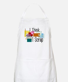 I Think Therefore I Scrap BBQ Apron