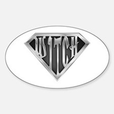 SuperWitch(metal) Oval Decal
