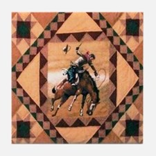 Bronc Rider Tile Coaster