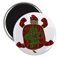 """Red African Turtle 2.25"""" Magnet (10 pack)"""