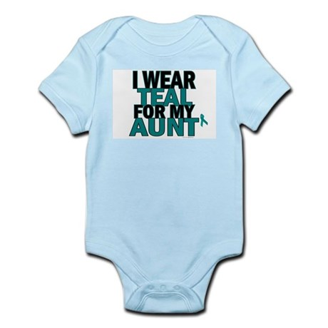 I Wear Teal For My Aunt 5 Infant Bodysuit