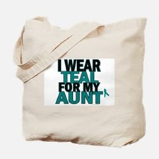 I Wear Teal For My Aunt 5 Tote Bag
