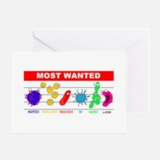 Most Wanted Poster Greeting Cards