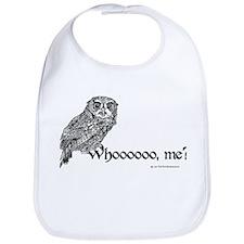 Whoo Me? Owl Bib