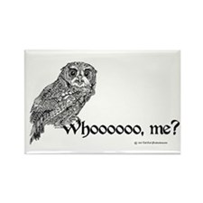 Whoo Me? Owl Rectangle Magnet