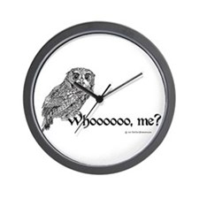 Whoo Me? Owl Wall Clock