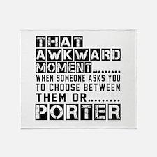 Porter Awkward Designs Throw Blanket