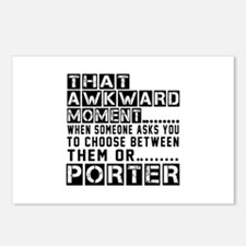Porter Awkward Designs Postcards (Package of 8)