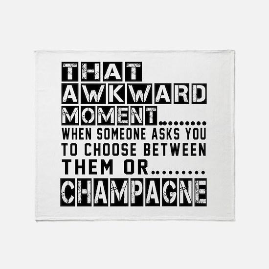 Champagne Awkward Designs Throw Blanket