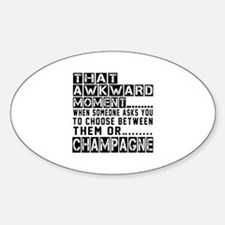 Champagne Awkward Designs Decal