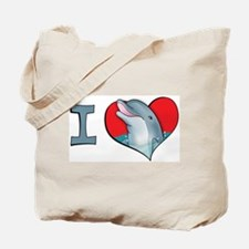 I heart dolphins Tote Bag