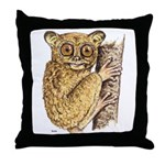 Tarsier Rain Forest Throw Pillow