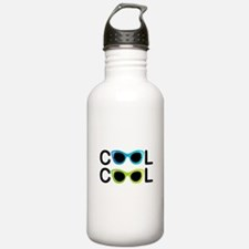 Cute Cat eye glasses Water Bottle