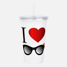 Cute I love to color Acrylic Double-wall Tumbler