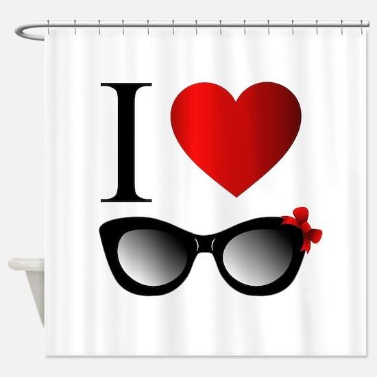 Cute Sunglasses Shower Curtain