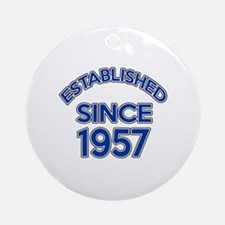 Established Since 1957 Round Ornament