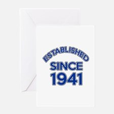 Established Since 1941 Greeting Card