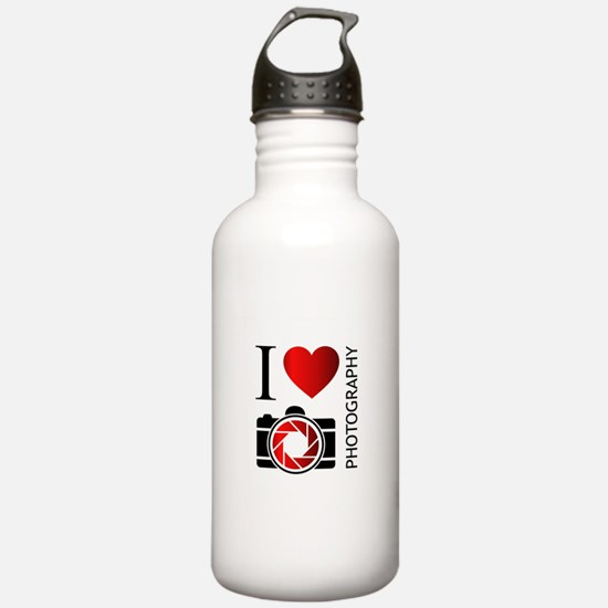 Cute I love photography Water Bottle