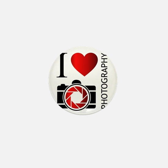 Cute I love photography Mini Button