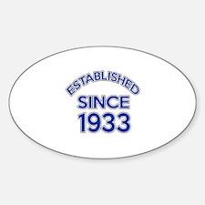 Established Since 1933 Sticker (Oval)