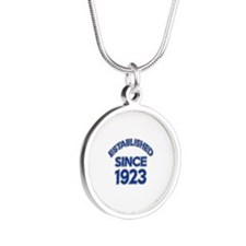 Established Since 1923 Silver Round Necklace