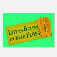 Cute Flipflop Postcards (Package of 8)