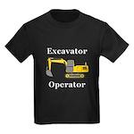 Excavator Operator Kids Dark T-Shirt